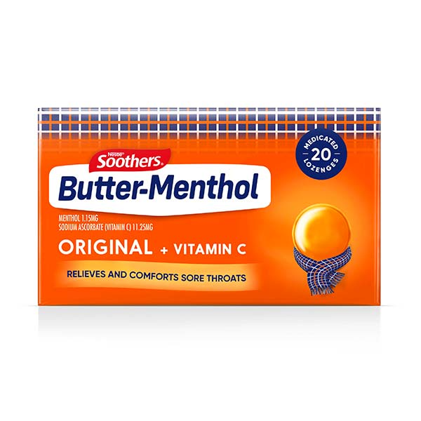 BUTTER-MENTHOL Original Carton (20 lozenges)