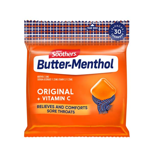 BUTTER-MENTHOL Original Multipack (30 lozenges)