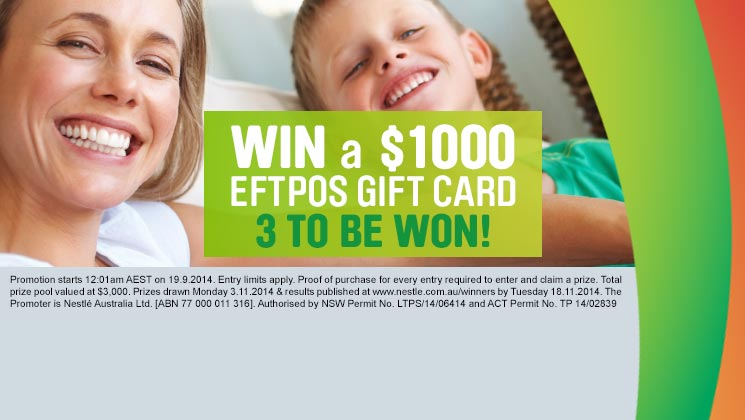 Win a $1000 eftpos gift card