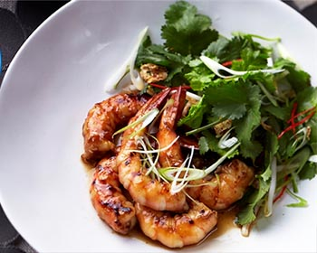 Honey Soy Barbecue Prawns